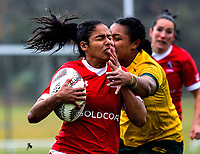 Magali Harvey in action during the 2017 International Women's Rugby Series rugby match between Canada and Australia Wallaroos at Smallbone Park in Rotorua, New Zealand on Saturday, 17 June 2017. Photo: Dave Lintott / lintottphoto.co.nz