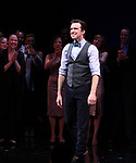 Gavin Creel during the curtain Call bows for the Actors Fund's 15th Anniversary Reunion Concert of 'Thoroughly Modern Millie' on February 18, 2018 at the Minskoff Theatre in New York City.