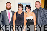 Ian Donegan, Michelle O'Donovan, Aideen O'Donovan and Conor Donegan pictured at the Causeway Social on Saturday night held in Ballyroe Heights Hotel, Tralee on Saturday night.