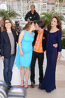 "Nathalie Baye, Suzanne Clement, Xavier Dolan and Monia Chokri attending the ""Laurence Anyways"" Photocall during the 65th annual International Cannes Film Festival in Cannes, France, 19th May 2012...Credit: Timm/face to face /MediaPunch Inc. ***FOR USA ONLY***"