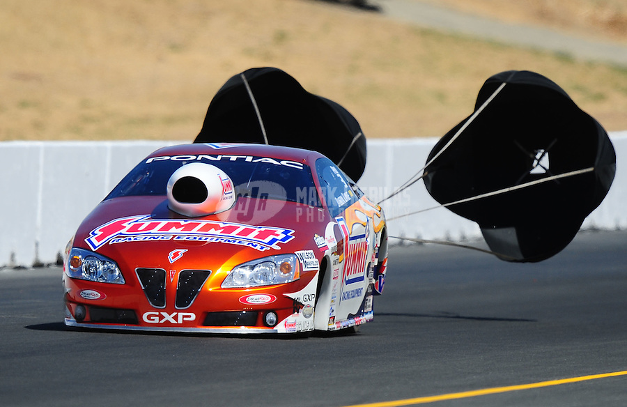 Jul. 18, 2010; Sonoma, CA, USA; NHRA pro stock driver Jason Line during the Fram Autolite Nationals at Infineon Raceway. Mandatory Credit: Mark J. Rebilas-