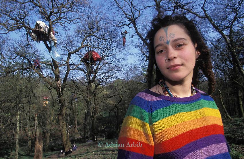 Tree protest, on the M65 extension Preston Lancs