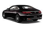 Car pictures of rear three quarter view of a 2019 Mercedes Benz S-Class S560 2 Door Coupe angular rear
