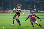 Tana Umaga looks to avoid Robbie Robinson's tackle. ITM Cup & Ranfurly Shield rugby match between the Counties Manukau Steelers and the Southland Stags played at Rugby Park, Invercargill, on Saturday 14th of August, 2010..Southland won the game 13 - 9 after leading 11 - 6 at halftime.