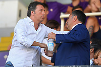 Matteo Renzi, former prime minister, and Joe Barone <br /> Firenze 19/08/2019 Stadio Artemio Franchi <br /> Football Italy Cup 2019/2020 <br /> ACF Fiorentina - Monza  <br /> Foto Andrea Staccioli / Insidefoto