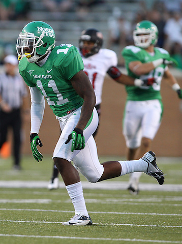 Denton, TX - NOVEMBER 3: Will Wright #11 of the North Texas Mean Green in action against the Arkansas State Red Wolves at Apogee Stadium in Denton on November 3, 2012 in Denton, Texas. Photo by: Rick Yeatts