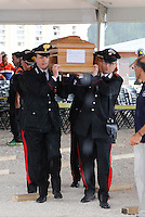 The funeral ceremony  for victims of the earthquake that leveled the town in Amatrice, central Italy August 30, 2016.