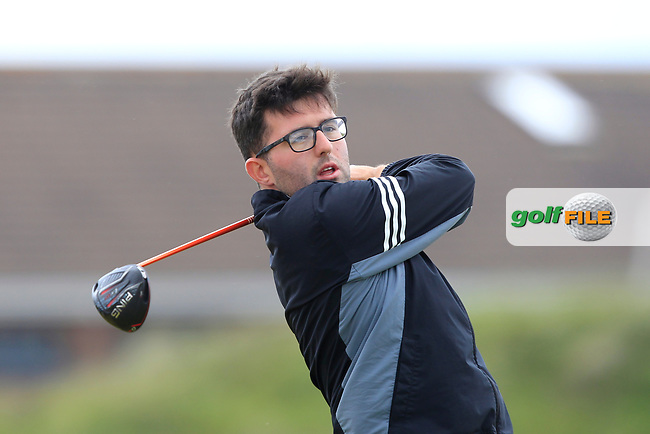 Callum Farr (Northamptonshire County) on the 5th tee during Round 1 of the The Amateur Championship 2019 at The Island Golf Club, Co. Dublin on Monday 17th June 2019.<br /> Picture:  Thos Caffrey / Golffile<br /> <br /> All photo usage must carry mandatory copyright credit (© Golffile | Thos Caffrey)