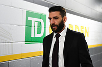 June 6, 2019: Boston Bruins center Patrice Bergeron (37) makes his way to the locker room before game 5 of the NHL Stanley Cup Finals between the St Louis Blues and the Boston Bruins held at TD Garden, in Boston, Mass. Eric Canha/CSM