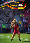 Real Salt Lake's mascot before the first half Saturday, March 10, 2018, during the Major League Soccer game at Rio Tiinto Stadium in Sandy, Utah. LAFC beat RSL 5-1. (© 2018 Douglas C. Pizac)