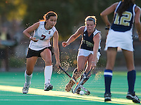 STANFORD, CA - September 3, 2010: Elise Ogle (7) during a field hockey match against UC Davis in Stanford, California. Stanford won 3-1.