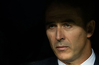 Real Madrid coach Julen Lopetegui during the match between Real Madrid vs Viktoria Plzen of UEFA Champions League, Group Stage, Group G, date 3, 2018-2019 season. Santiago Bernabeu Stadium. Madrid, Spain - 23 OCT 2018.