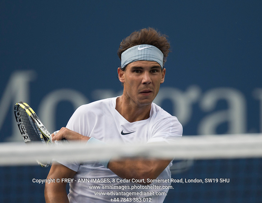 Rafael Nadal<br /> Tennis - US Open  - Grand Slam -  Flushing Meadows  2013 -  New York - USA - United States of America - Saturday 7th September 2013. <br /> <br /> &copy; AMN Images, 8 Cedar Court, Somerset Road, London, SW19 5HU<br /> Tel - +44 7843383012<br /> mfrey@advantagemedianet.com<br /> www.amnimages.photoshelter.com<br /> www.advantagemedianet.com<br /> www.tennishead.net