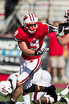 Wisconsin Badgers linebacker Blake Sorensen (9) plays defense during an NCAA college football game against the Minnesota Golden Gophers on October 9, 2010 at Camp Randall Stadium in Madison, Wisconsin. The Badgers beat the Golden Gophers 41-23. (Photo by David Stluka)