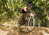 Picture by Alex Broadway/SWpix.com - 07/09/17 - Cycling - UCI 2017 Mountain Bike World Championships - XCO - Cairns, Australia - Nadia Grod of Switzerland competes in the Women's Junior World Championship Race.