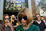Anna Wintour (Vogue) leaves the Fendi fashion shows as part of the Milan's Fashion Week Women's wear Spring/Summer 2016, in Milan on September 24, 2015.