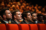 Mark Cavendish (GBR), Arnaud Demare, Thibout Pinot and Nacer Bouhani (FRA) amongst the riders at the Tour de France 2018 route presentation held at Palais de Congress, Paris, France. 17th October 2017.<br /> Picture: ASO/Bruno Bade | Cyclefile<br /> <br /> <br /> All photos usage must carry mandatory copyright credit (&copy; Cyclefile | ASO/Bruno Bade)