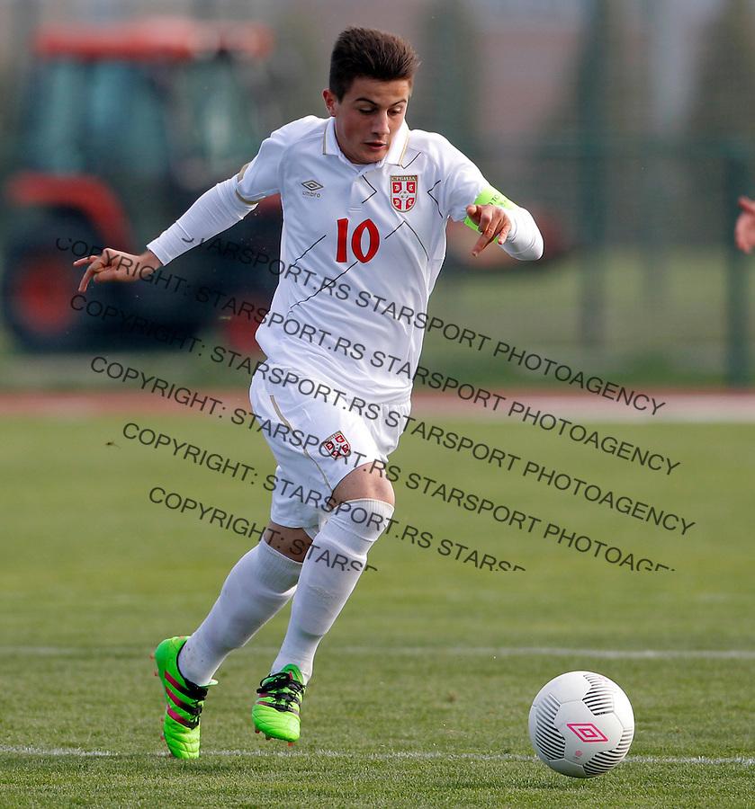 Armin Djerlek U16 under 16 Srbija - Izrael, Serbia - Israel 8.3.1016. Mart 8. 2016. (credit image & photo: Pedja Milosavljevic / STARSPORT)
