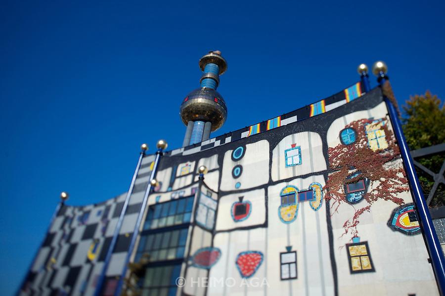 Fernwaerme Wien garbage burning and heat generating plant, designed by Friedensreich Hundertwasser.