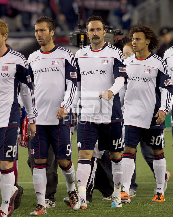 New England Revolution defender Ryan Cochrane (45). In a Major League Soccer (MLS) match, the New England Revolution tied the Portland Timbers, 1-1, at Gillette Stadium on April 2, 2011.