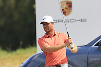Lucas Bjeregaard (DEN) on the 17th tee during Saturday's Round 3 of the Porsche European Open 2018 held at Green Eagle Golf Courses, Hamburg Germany. 28th July 2018.<br /> Picture: Eoin Clarke | Golffile<br /> <br /> <br /> All photos usage must carry mandatory copyright credit (&copy; Golffile | Eoin Clarke)