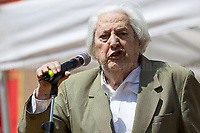Mario Fiorentini (Antifascist Partizan. Member of the Partigiani: the Italian Resistance during WWII).<br /> <br /> Rome, 25/04/2018. Today, to mark the 73rd Anniversary of the Italian Liberation from nazi-fascism ('Liberazione'), ANED Roma & ANPI Roma (National Association of Italian Partizans) held a march ('Corteo') from Garbatella to Piazzale Ostiense where a rally took place attended by Partizans, Veterans and politicians – including the Mayor of Rome and the President of Lazio's Region. From the organisers Facebook page:<<For the 25th of April, the 73rd Anniversary of the Liberation of Italy from nazi-fascism, while facing new threats to the world peace, it is necessary to remember that the Fight for Liberation triggered the greatest, positive, 'break' of the whole modern age of the Italian history. The Fight for the Liberation was supported by a great solidarity of the people. The memory of those who in the partizan struggle, in the camps of imprisonment, internment or extermination, opposed - even until the sacrifice of life - the dictatorship, the greed of territorial conquests, crazy ideologies of race supremacy, constitutes concrete warning against any attempt to undermine the foundations of the free institutions born of the Resistance. Memory is not an instrument of hatred or revenge, but of unity in a spirit of harmony without discriminations...<br /> (For the full caption please read the PDF attached at the the beginning of this story).<br /> <br /> For more info please click here: https://bit.ly/2vOIfNf & https://bit.ly/2r4iJy3 & http://www.anpi.it<br /> <br /> For the Wikipedia's page of the 'Liberazione' please click here: https://en.wikipedia.org/wiki/Liberation_Day_(Italy)<br /> <br /> For a Video of the event by Radio Radicale please click here: https://www.radioradicale.it/scheda/539534/manifestazione-promossa-dallanpi-in-occasione-della-73a-festa-della-liberazione