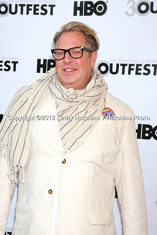 """LOS ANGELES - JUL 22:  Brian Dannelly  arrives agt the 2012 Outfest Closing Night Gala of """"STRUCK BY LIGHTNING"""" at J.A. Ford Amphitheatre on July 22, 2012 in Los Angeles, CA"""
