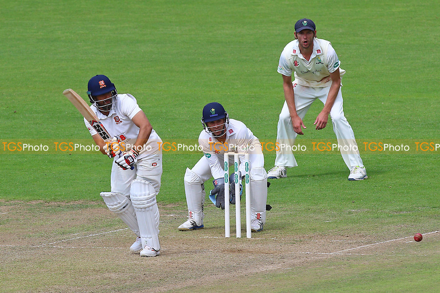 Ravi Bopara in batting action for Essex as Mark Wallace looks on from behind the stumps during Glamorgan CCC vs Essex CCC, Specsavers County Championship Division 2 Cricket at the SSE SWALEC Stadium on 23rd May 2016