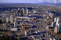Aerial view of the Barnaby skyline; a Canadian city. Barnaby, British Columbia (BC) Canada.