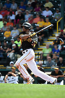 Pittsburgh Pirates outfielder Keon Broxton (79) during the Black & Gold intrasquad game on March 2, 2015 at McKechnie Field in Bradenton, Florida.  (Mike Janes/Four Seam Images)