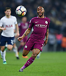 Raheem Sterling of Manchester City during the premier league match at the Wembley Stadium, London. Picture date 14th April 2018. Picture credit should read: Robin Parker/Sportimage