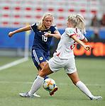 09.06.2019 England v Scotland Women: Claire Emslie and Alex Greenwood