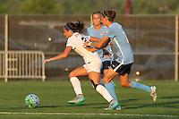 Piscataway, NJ - Saturday June 11, 2016: Shea Groom, Sarah Killion during a regular season National Women's Soccer League (NWSL) match between Sky Blue FC and FC Kansas City at Yurcak Field.