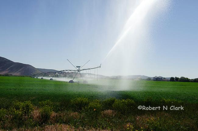 Irrigation pivot in a field near Silver Creek, Idaho