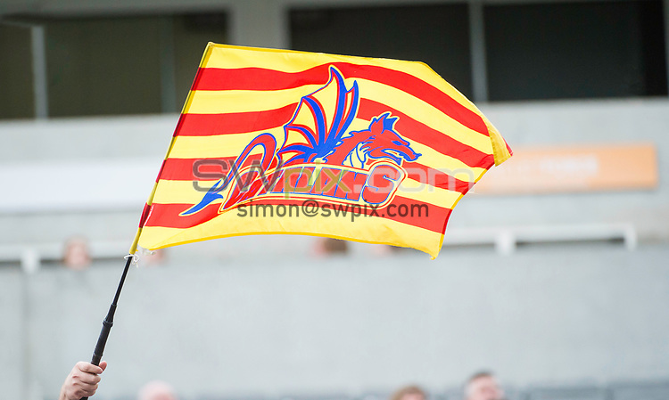 Picture by Allan McKenzie/SWpix.com - 21/05/2017 - Rugby League - Dacia Magic Weekend - Huddersfield Giants v Catalan Dragons - St James' Park, Newcastle, England - The brief, fans, supporters, flag.