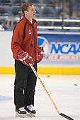 Mike Eaves - The University of Wisconsin Badgers practiced on Wednesday, April 5, 2006, at the Bradley Center in Milwaukee, Wisconsin.  The Badgers won the Title by defeating Maine on April 6 and Boston College on April 8.