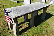 Burial site of Rev. Parson Samuel Hidden in cemetery located next to Ordination Rock in Tamworth, New Hampshire USA. Ordination Rock was where Rev. Parson Samuel Hidden was ordained on September 12, 1792 and became the first settled minister in Tamworth.
