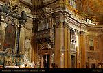 Left Transept Detail Altar St Ignatius of Loyola Malachite Lapis Lazuli Andrea Pozzo Tamburini Organ Chiesa del Gesu Rome