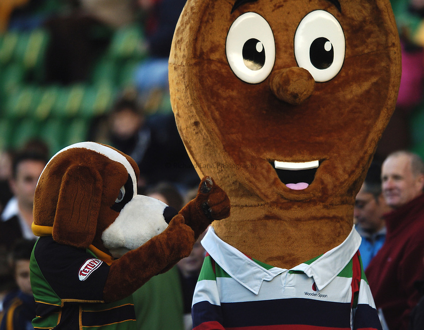 Photo: Jonathan Butler..Northampton Saints v Leicester Tigers. EDF Energy Anglo Welsh Cup. 02/12/2006..Northampton Saints mascot.