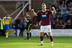 Hearts v St Johnstone....06.05.12   SPL.Danny Grainger shows his joy at winning as he celebrates to the saints fans at full time.Picture by Graeme Hart..Copyright Perthshire Picture Agency.Tel: 01738 623350  Mobile: 07990 594431