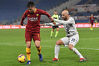 Cengiz Under of AS Roma and Borja Valero of Internazionale compete for the ball during the Serie A 2018/2019 football match between AS Roma and FC Internazionale at stadio Olimpico, Roma, December, 2, 2018 <br />  Foto Andrea Staccioli / Insidefoto