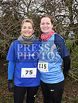 Aine Nugent and Liz Levins who took part in Erin's Run. Photo:Colin Bell/pressphotos.ie