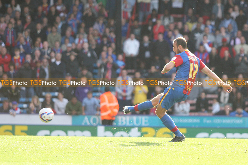 Glenn Murray of Crysrtal Palace scores his third goal from the spot - Crystal Palace vs Cardiff City - NPower Championship Football at Selhurst Park, London - 22/09/12 - MANDATORY CREDIT: George Phillipou/TGSPHOTO - Self billing applies where appropriate - 0845 094 6026 - contact@tgsphoto.co.uk - NO UNPAID USE.