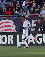 DC United midfielder Andy Najar (14). In a Major League Soccer (MLS) match, the New England Revolution defeated DC United, 2-1, at Gillette Stadium on March 26, 2011.