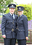23/7/2015.    Graduating from the Garda College in Templemore this Thursday were Garda Jane Buckley, Tullamore who is stationed at Finglas and her Garda husband Paul who graduated ten years ago.<br /> Photograph Liam Burke/Press 22