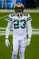 Green Bay Packers cornerback Damarious Randall (23) during a National Football League game against the Chicago Bears on September 28, 2017 at Lambeau Field in Green Bay, Wisconsin. Green Bay defeated Chicago 35-14. (Brad Krause/Krause Sports Photography)