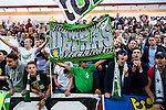 S&ouml;dert&auml;lje 2014-05-18 Fotboll Superettan Syrianska FC - Hammarby IF :  <br /> Hammarby supportrar jublar<br /> (Foto: Kenta J&ouml;nsson) Nyckelord:  Syrianska SFC S&ouml;dert&auml;lje Fotbollsarena Hammarby HIF Bajen supporter fans publik supporters jubel gl&auml;dje lycka glad happy