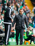 Brendan Rodgers queries the officials
