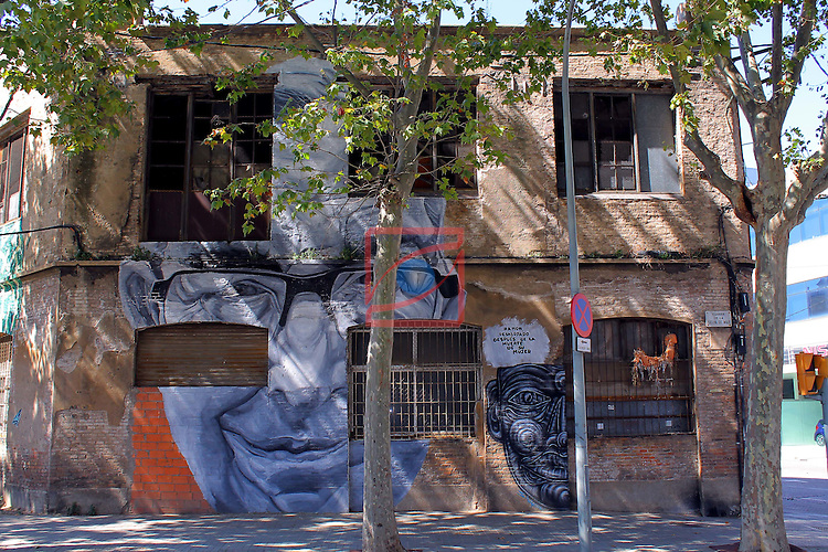 Street Art-Graffittis.<br /> Carrer Selva de Mar.<br /> Barcelona-Poblenou (Sant Marti).