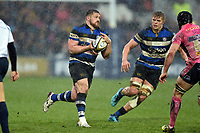 Shaun Knight of Bath Rugby in possession. Anglo-Welsh Cup Final, between Bath Rugby and Exeter Chiefs on March 30, 2018 at Kingsholm Stadium in Gloucester, England. Photo by: Patrick Khachfe / Onside Images
